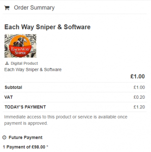 Each Way Sniper Review Cost