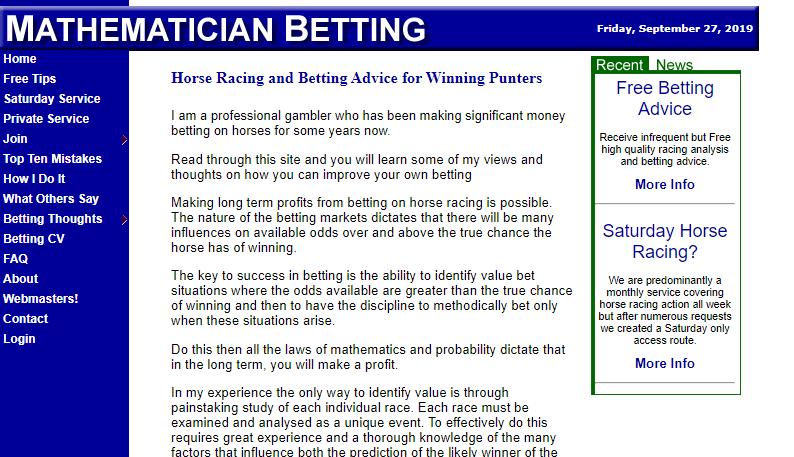 Mathematician Betting