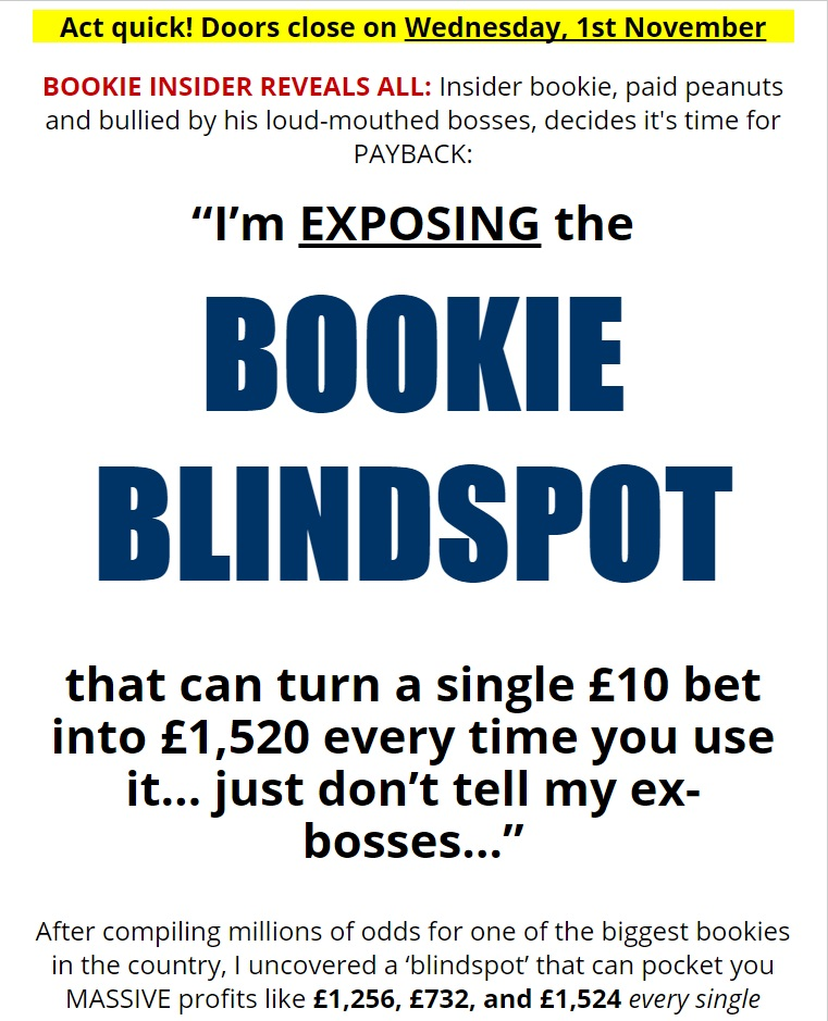 Bookie Blindspot Review
