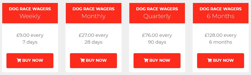 Dog Race Wagers Review Prices