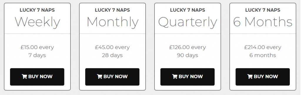 Lucky 7 Naps Prices
