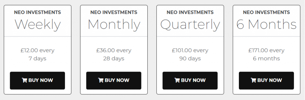 Neo Investments Review Prices