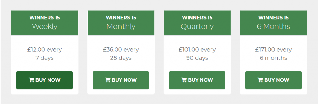 Winners 15 review Prices