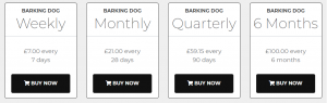 barking Dog Review Prices