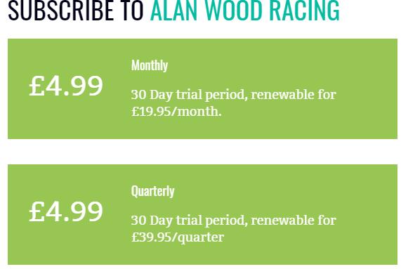 Alan Wood Racing Review Prices
