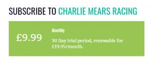 Charlie Mears Racing Price