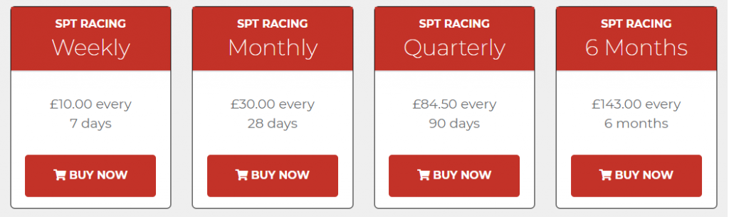 SPT Racing Review Prices