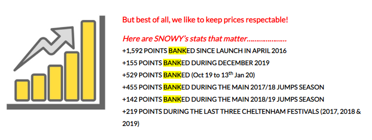 Snowy Bets Review Results