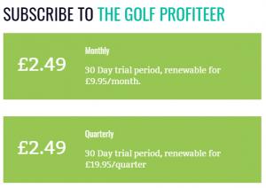 The Golf Profiteer Prices