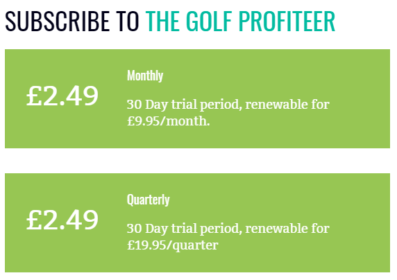 The Golf Profiteer Prices